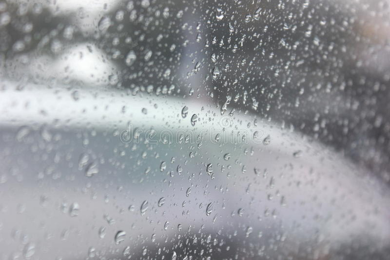 Water on Window stock image