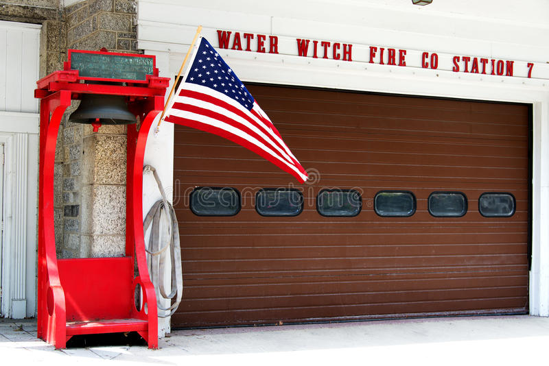 Water Witch Fire Station, Port Deposit stock photography