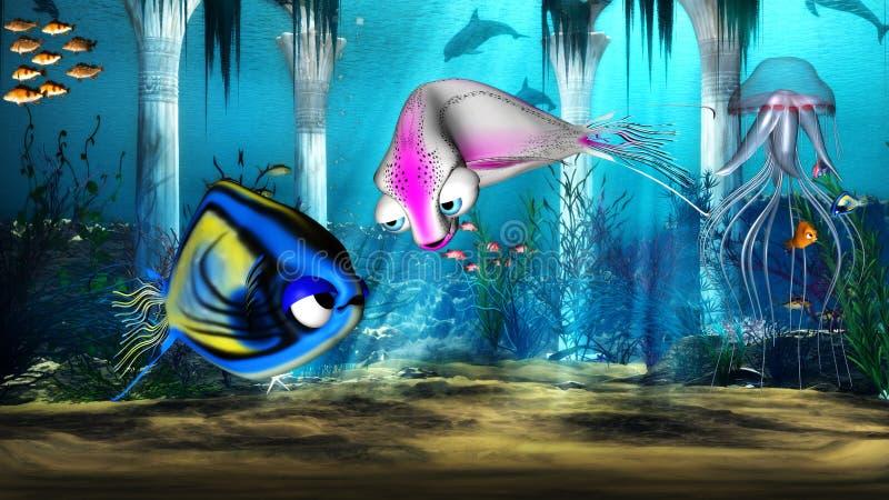 Download Water world stock illustration. Image of nature, starfish - 18644394