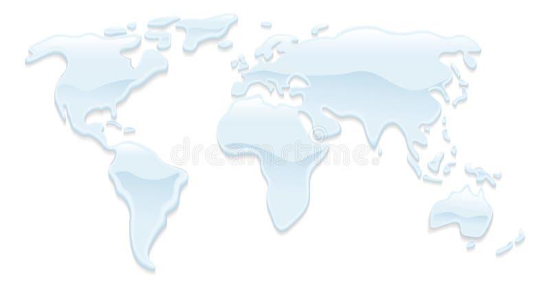 Water world map illustration vector illustration