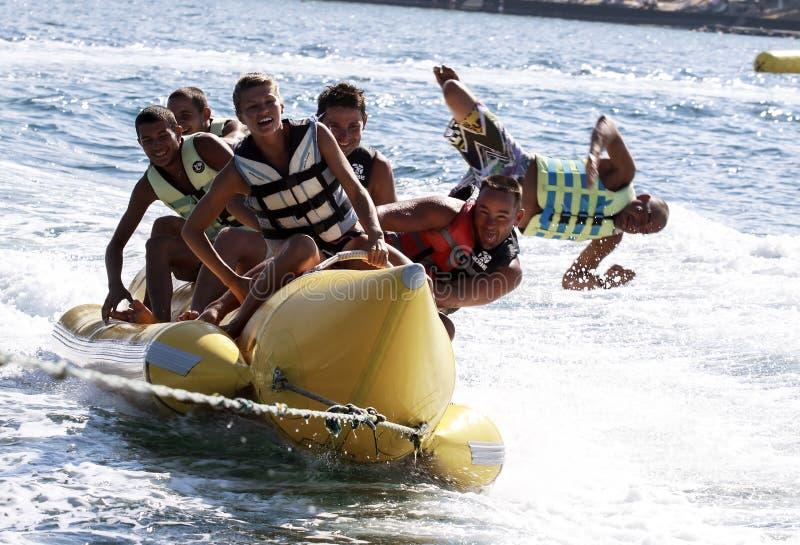 Waterbanaan. Extreme watersporten. royalty-vrije stock foto's