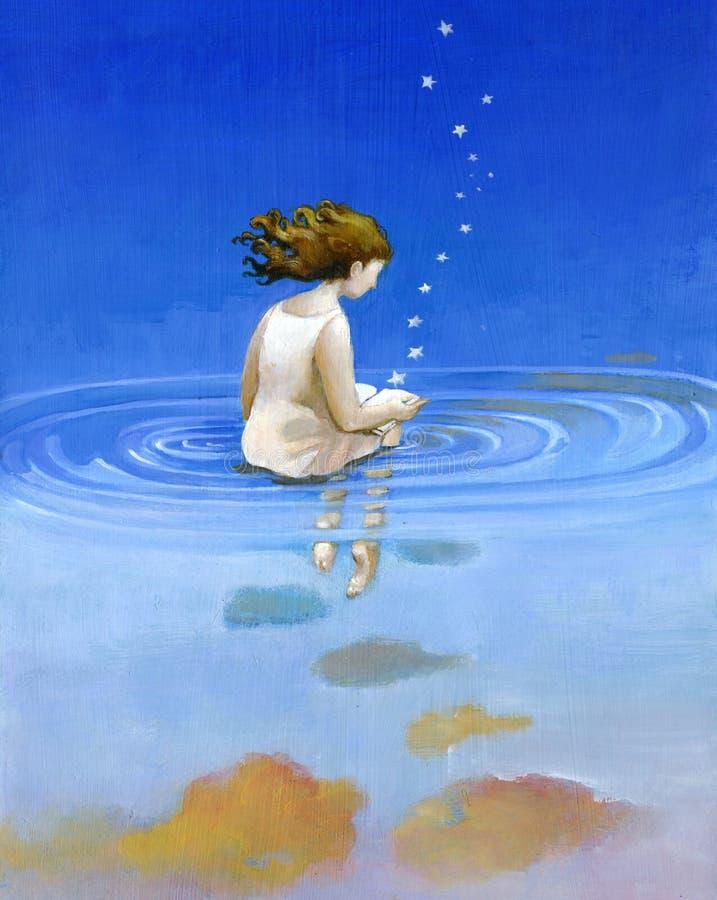Waterboek royalty-vrije illustratie