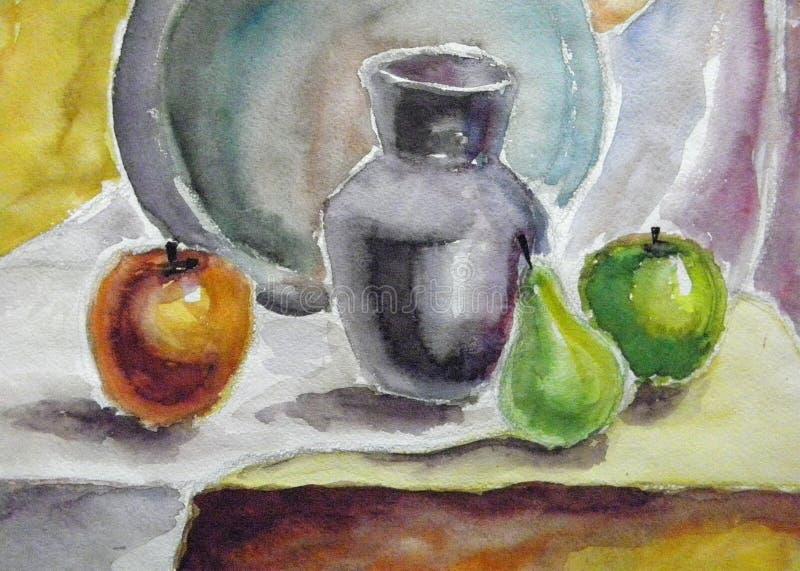 watercolor ζωής ακόμα απεικόνιση αποθεμάτων