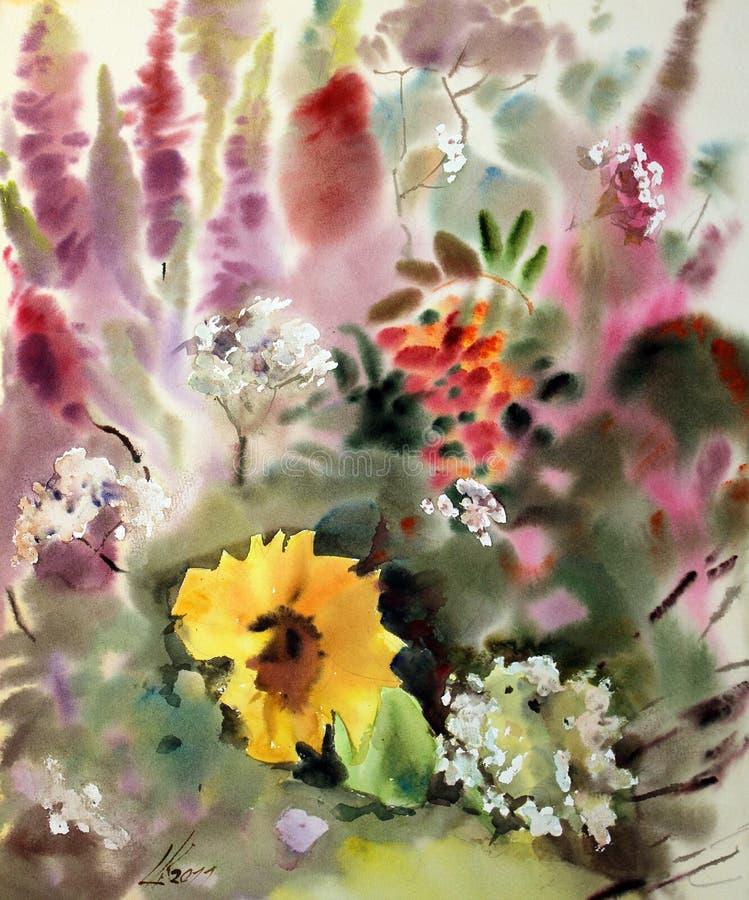 watercolor ζωγραφικής ελεύθερη απεικόνιση δικαιώματος