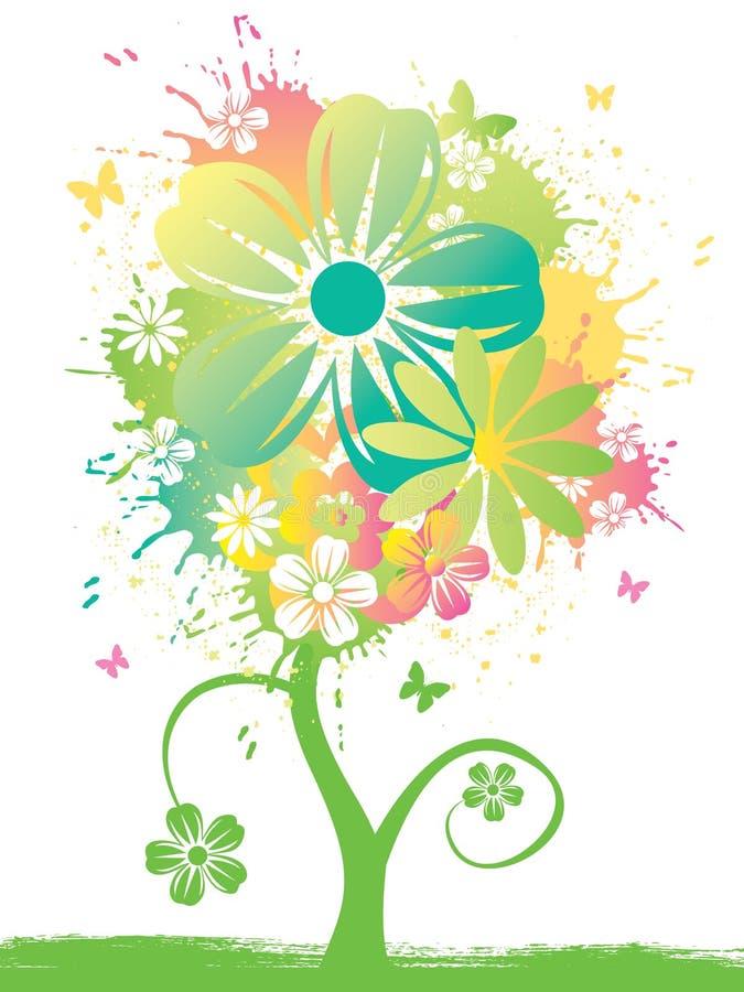 watercolor λουλουδιών διανυσματική απεικόνιση