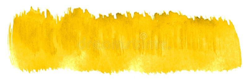 Δονούμενο κίτρινο αφηρημένο υπόβαθρο watercolor, λεκές, χρώμα παφλασμών, λεκές, διαζύγιο Εκλεκτής ποιότητας έργα ζωγραφικής για τ απεικόνιση αποθεμάτων