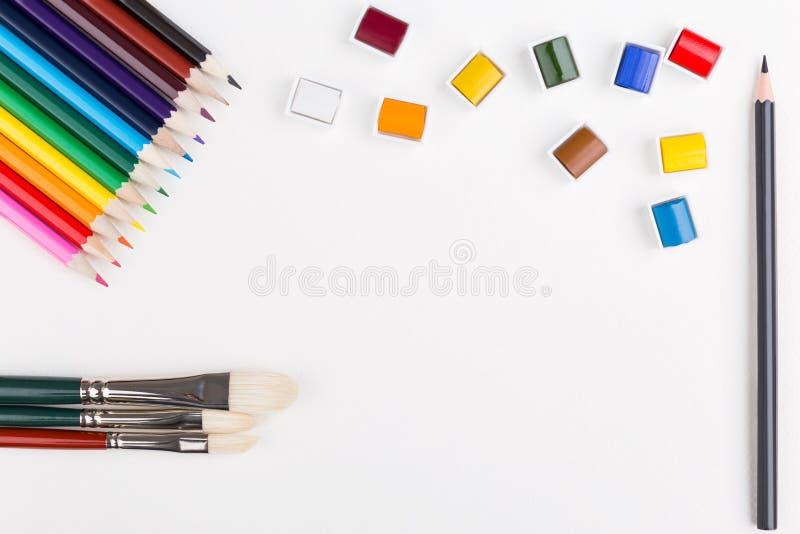 watercolor μολυβιών στοκ φωτογραφίες με δικαίωμα ελεύθερης χρήσης