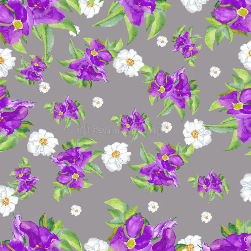 watercolor Μπλε τριαντάφυλλα που απομονώνονται στο άσπρο υπόβαθρο Όμορφη hand-drawn απεικόνιση για το αρχικό σχέδιο διανυσματική απεικόνιση
