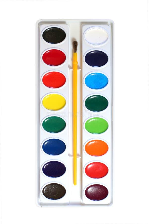 watercolor παλετών χρωμάτων στοκ φωτογραφίες με δικαίωμα ελεύθερης χρήσης