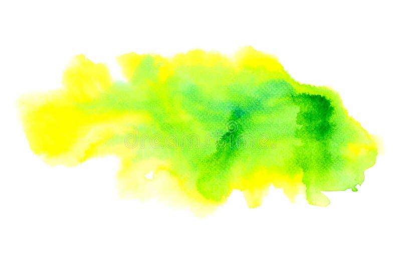 Watercolor που χρωματίζει το ζωηρόχρωμο ράντισμα στη σύσταση της Λευκής Βίβλου ελεύθερη απεικόνιση δικαιώματος
