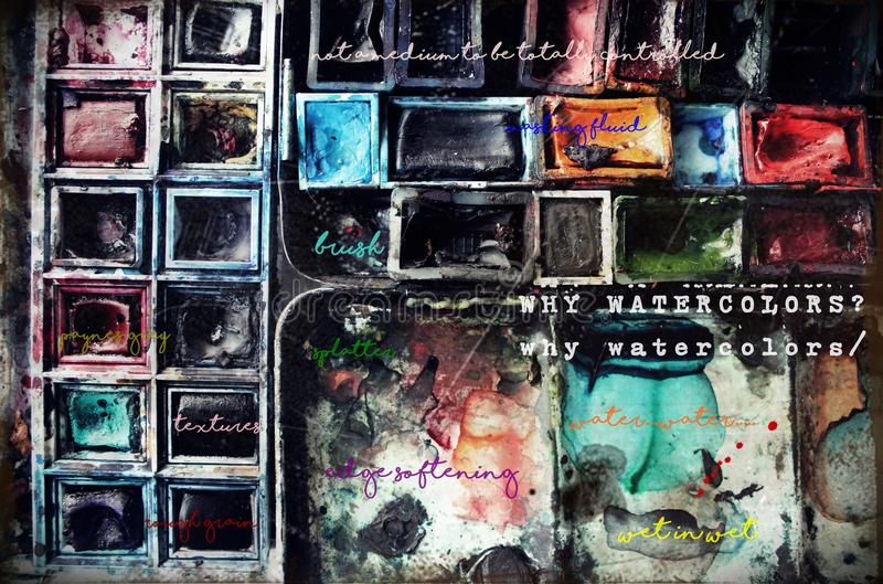 watercolor photographie stock