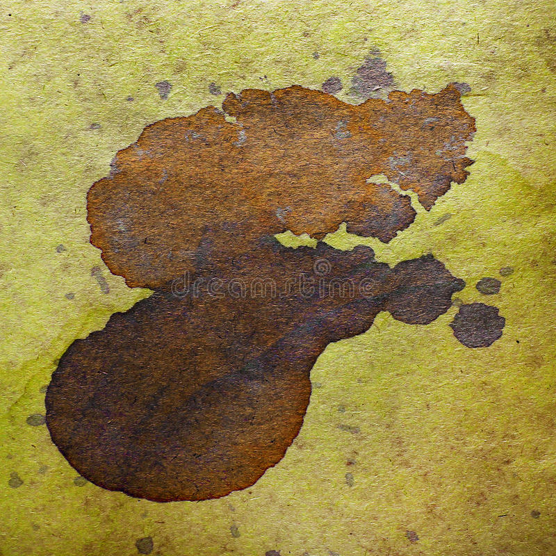 Watercolor abstract background paint brown color. Blob design splash art pattern paper grunge old retro stock images