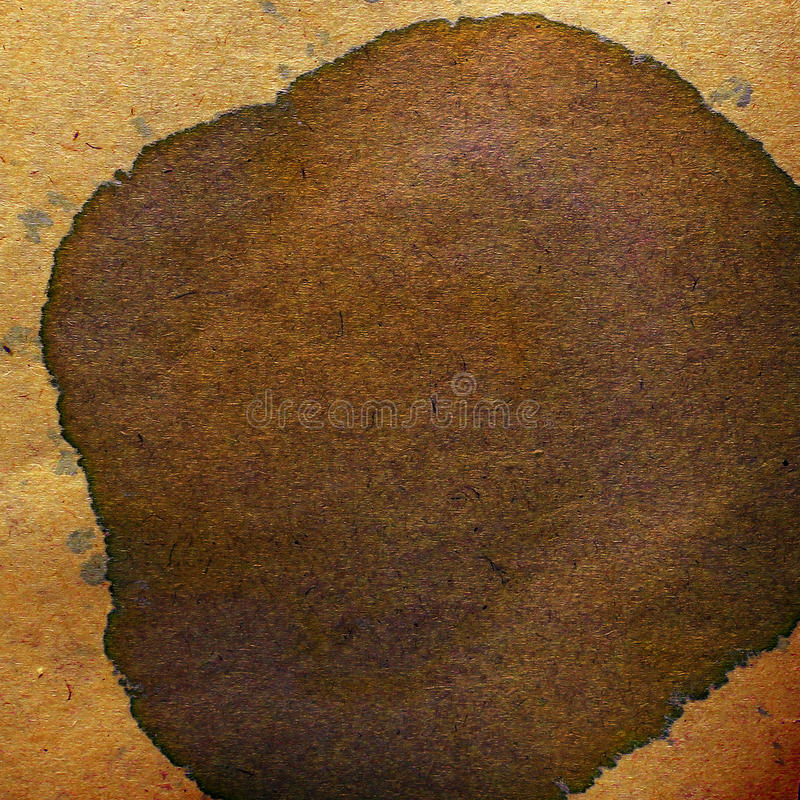 Watercolor abstract background paint color blob. Brown design splash art pattern paper grunge retro old stock photography
