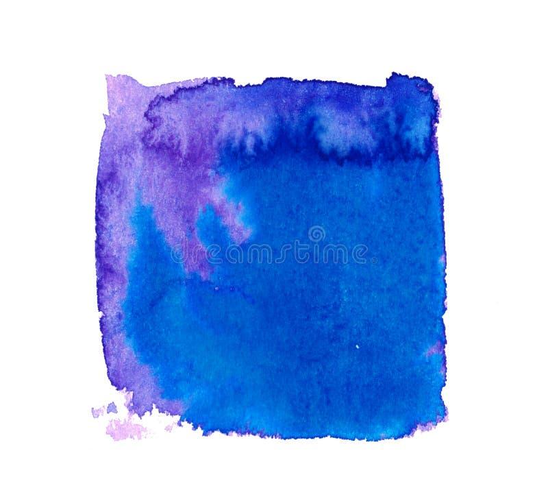 Rainbow colors watercolor paint stains backgrounds set stock illustration