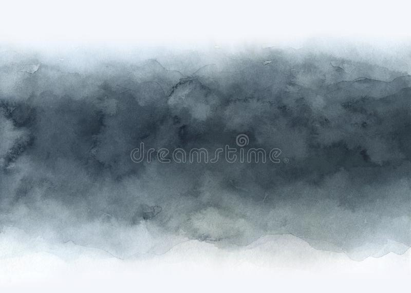 Watercolor abstract gray gradient background royalty free illustration