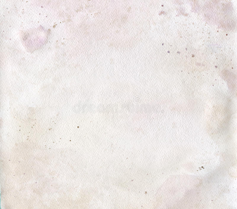 Watercolor abstract grunge background. Old papper. Pastel paint. royalty free stock photo