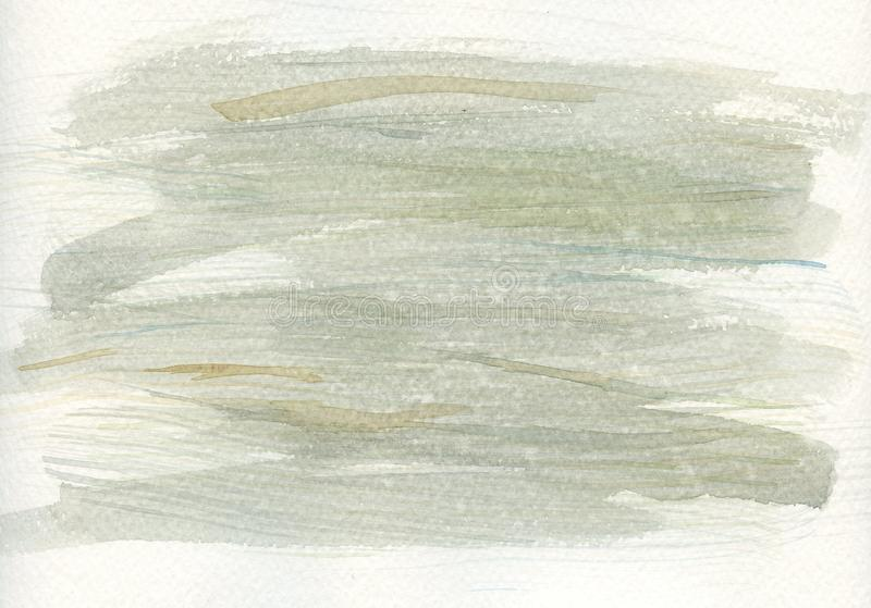 Watercolor Abstract Texture Greens. Watercolor abstract background texture in cool greens with some shades of sage, blue and browns royalty free illustration