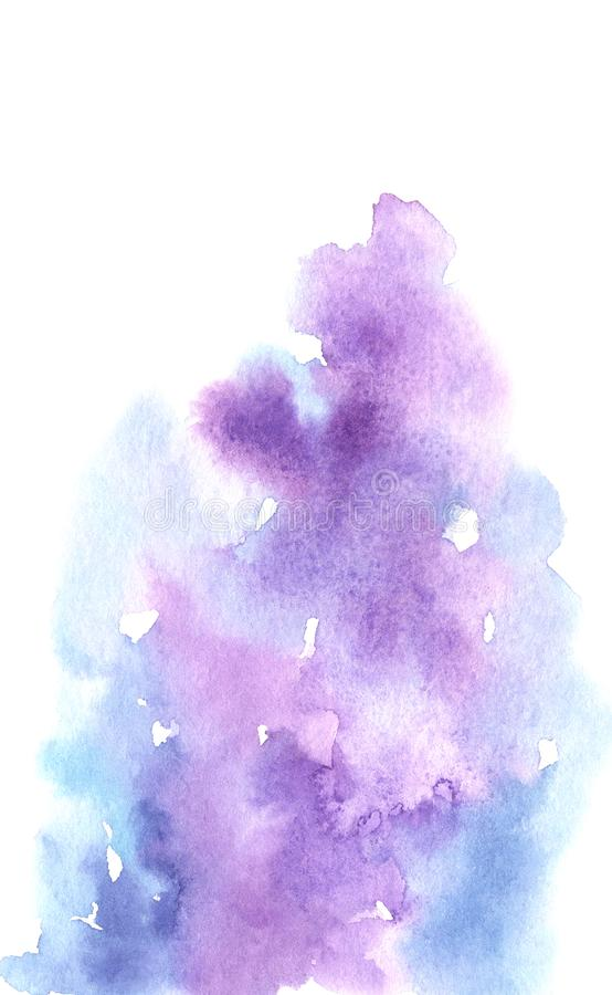 Watercolor abstract white, blue and purple gradient background royalty free illustration