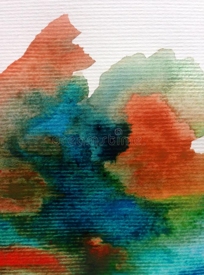 Watercolor art background abstract storm sky clouds textured wet wash blurred dye. Art abstract background executed watercolor. textured strokes blots splash wet vector illustration