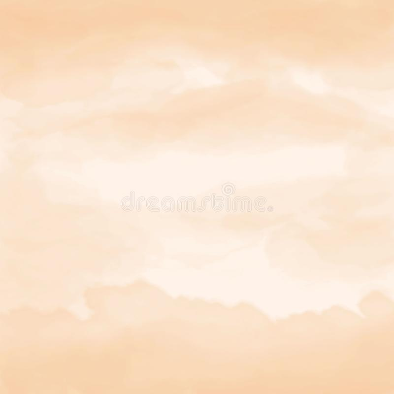 Watercolor artistic hand-painted orange textured abstract background stock photography
