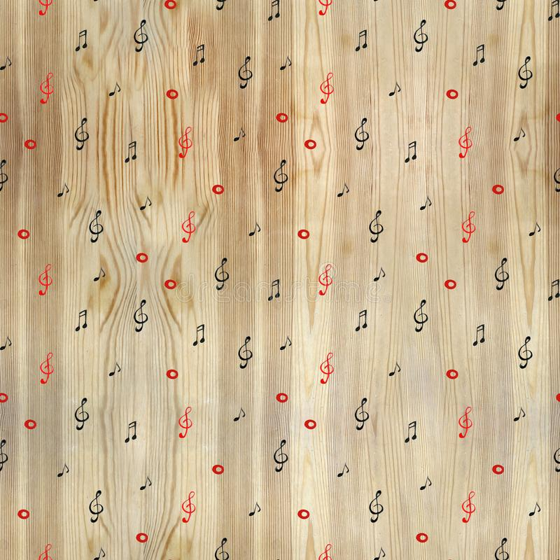 Watercolor artistic music background - seamless pattern with notes. Watercolor artistic music background - seamless pattern notes stock images
