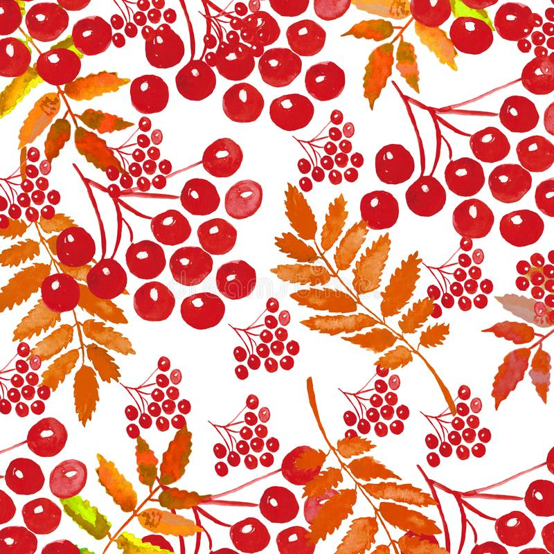 Watercolor autumn wreath with leaves and branches isolated on white background. vector illustration