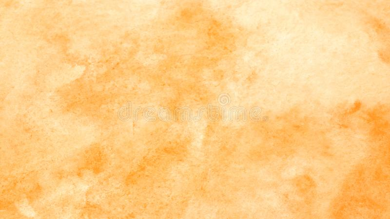 Watercolor background, art abstract orange watercolor painting t royalty free stock image
