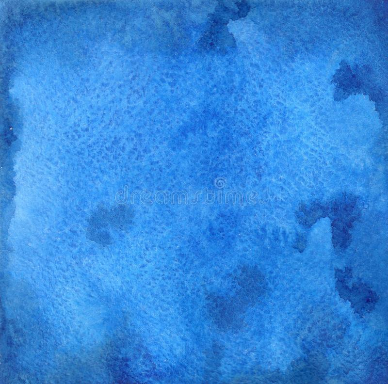 Watercolor background blue royalty free illustration