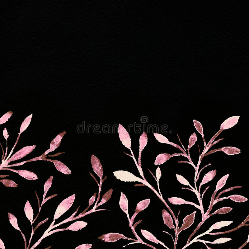 Watercolor background. Flower image. stock photo