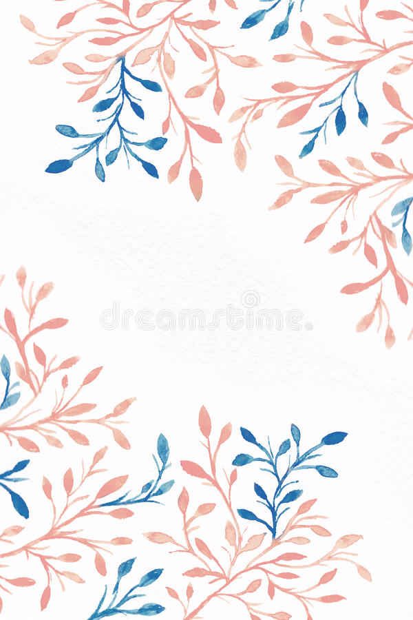 Watercolor background. Flower image. royalty free stock images