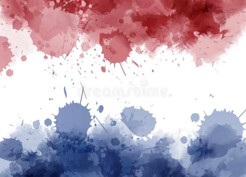 Watercolor Netherlands flag stock illustration