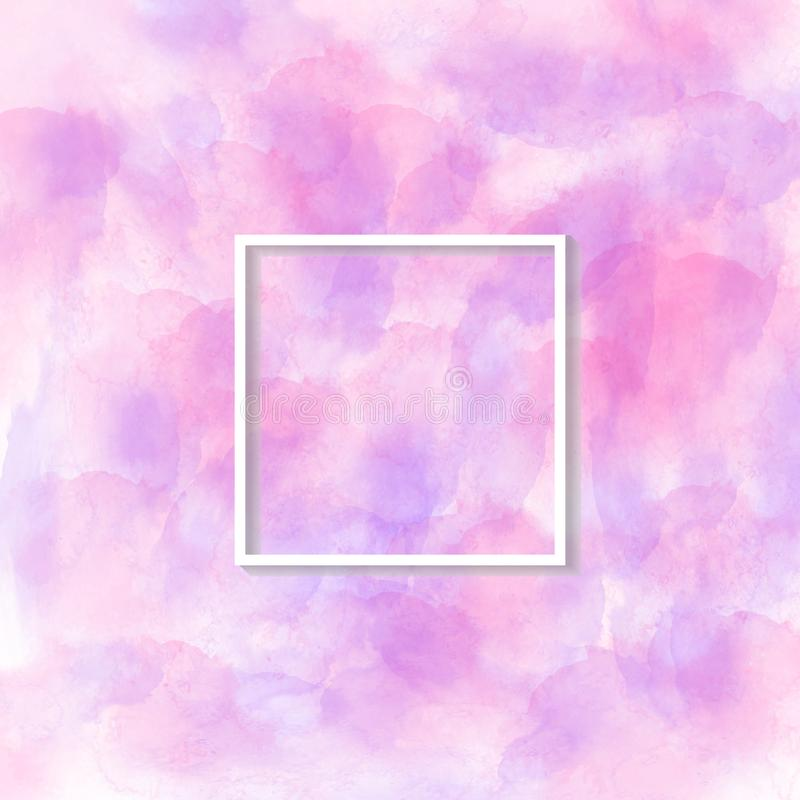 Vector Pink and Purple Watercolor Texture for Abstract Background stock illustration