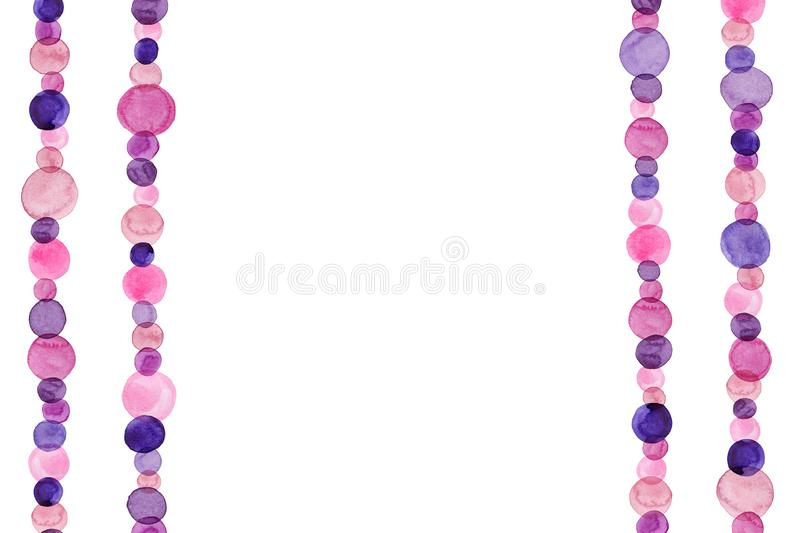 Watercolor Background With Pink And Purple Dots stock images