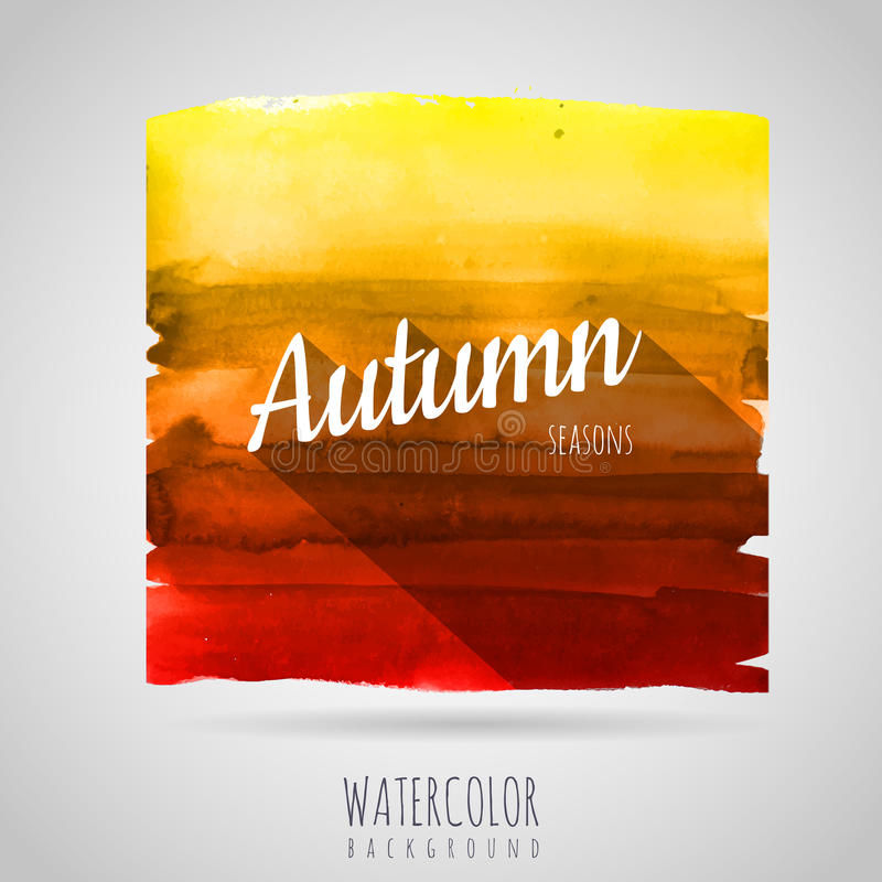 Free Watercolor Background. Seasons. Autumn Royalty Free Stock Images - 50981139