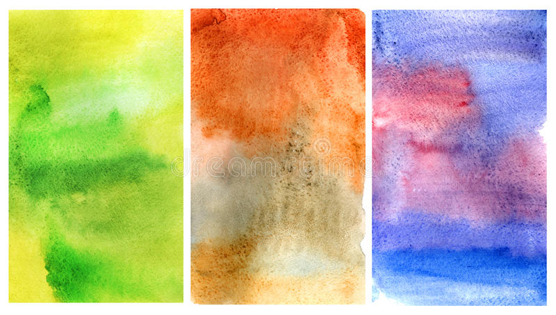 Watercolor background set. Base for design stock images