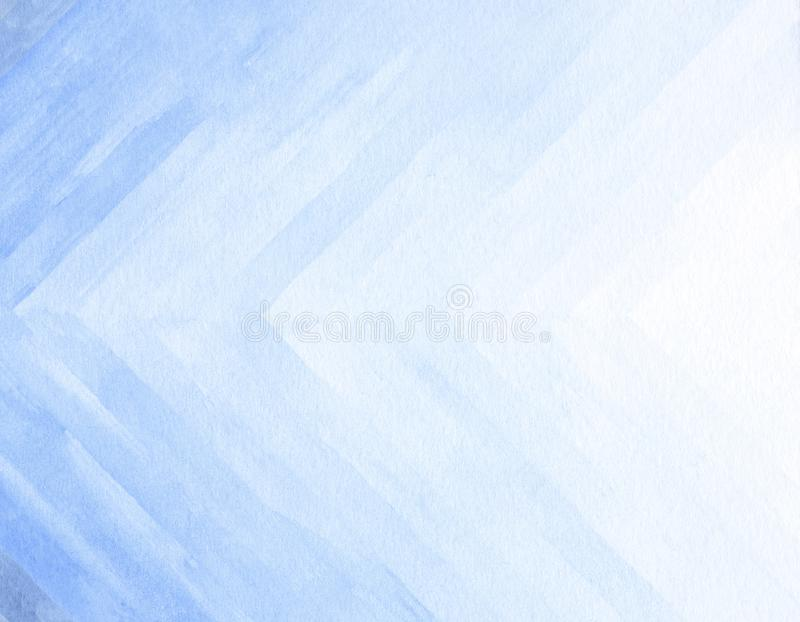 Watercolor background texture soft blue. Abstract blue tones royalty free illustration