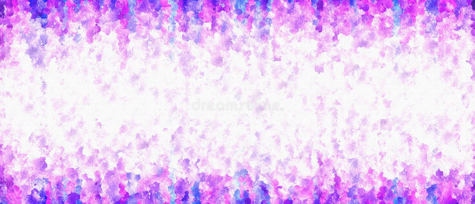 Bright Textured Abstract Background, Banner, Frame with Watercolor and Dotted Effects stock photos