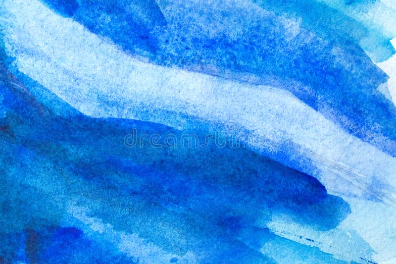 Watercolor background wet. Blue Abstract grunge texture background royalty free stock image
