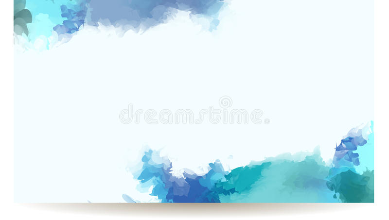 Watercolor banner royalty free illustration