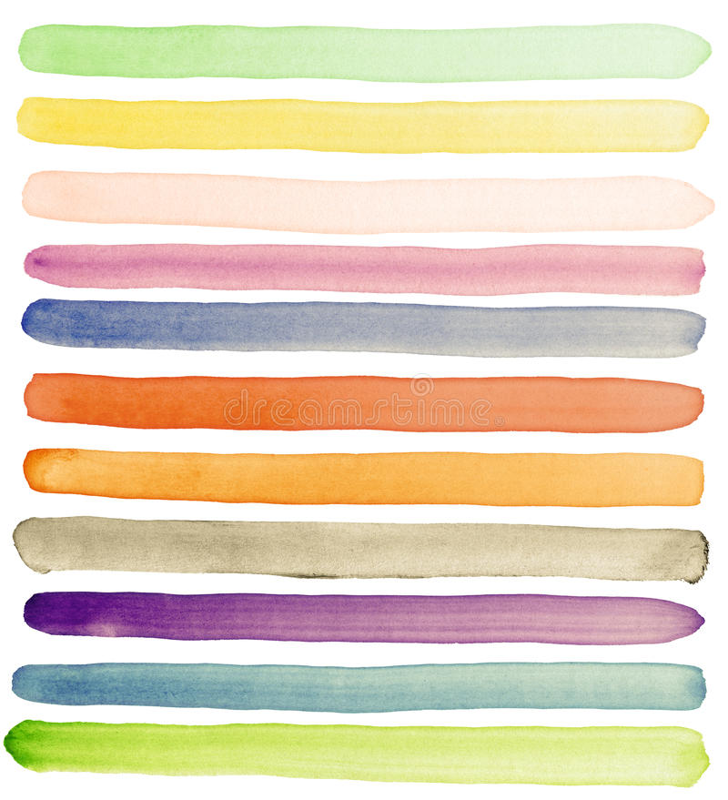 Free Watercolor Banners Royalty Free Stock Image - 19487286
