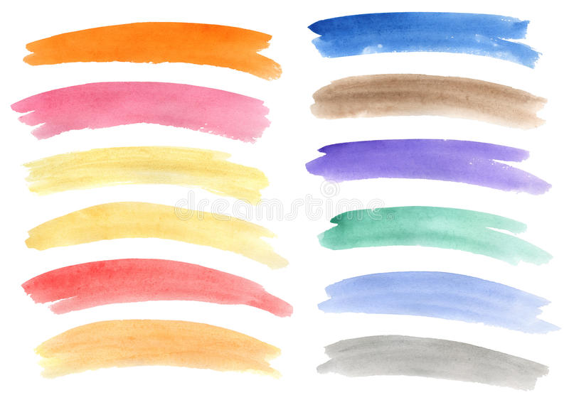 Watercolor Banners Set Stock Image