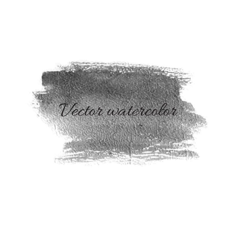 Watercolor billet isolated vector design element. Watercolor careless billet isolated vector design element stock illustration