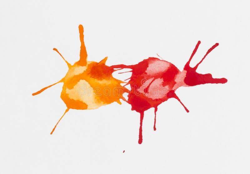 Watercolor blob. royalty free stock photography
