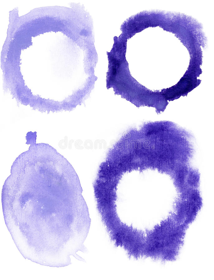 Watercolor blobs royalty free stock photos