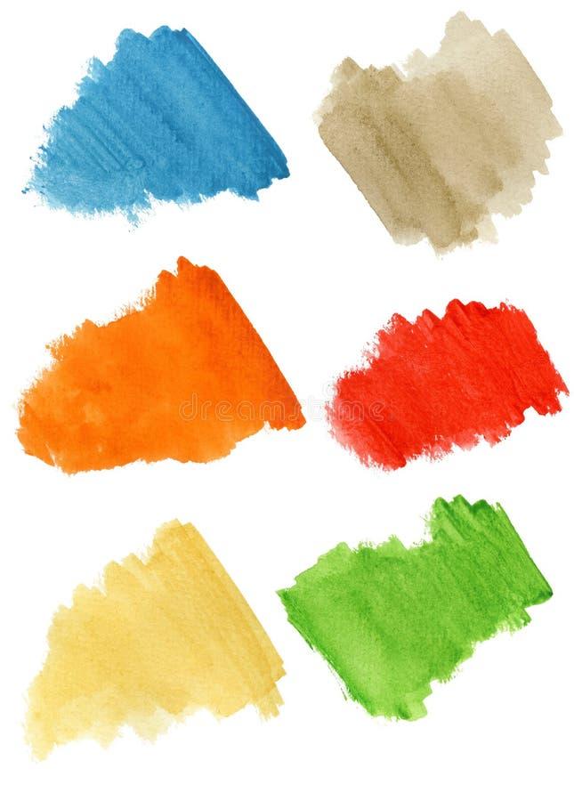 Download Watercolor blobs stock illustration. Illustration of orange - 18289975