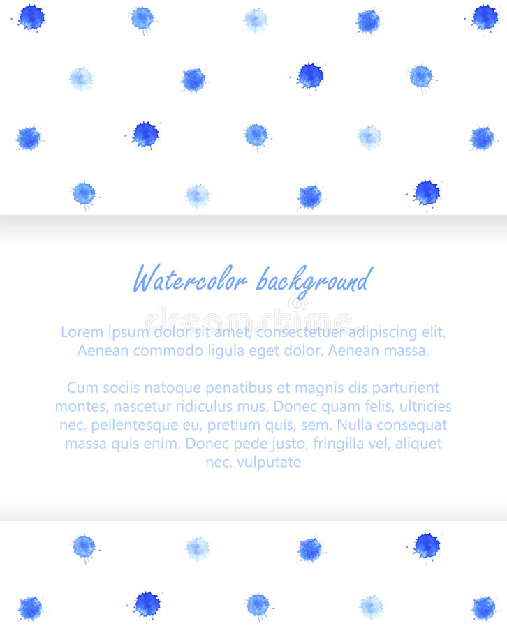 Watercolor blobs background 3. Watercolor blobs background. Polka dots. Abstract design. Vector ink paint splats royalty free illustration