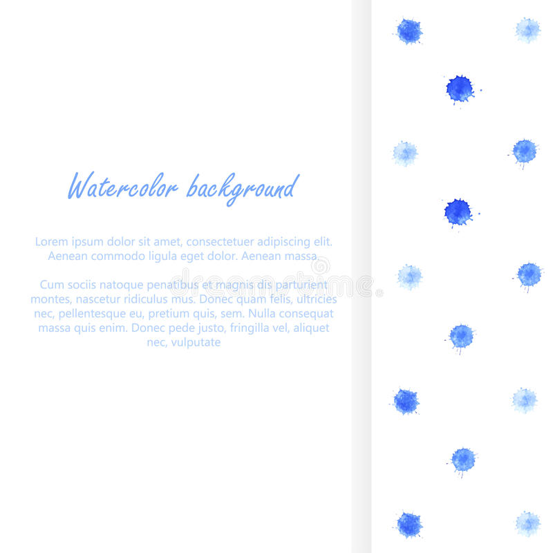 Watercolor blobs background 4. Watercolor blobs background. Polka dots. Abstract design. Vector ink paint splats vector illustration