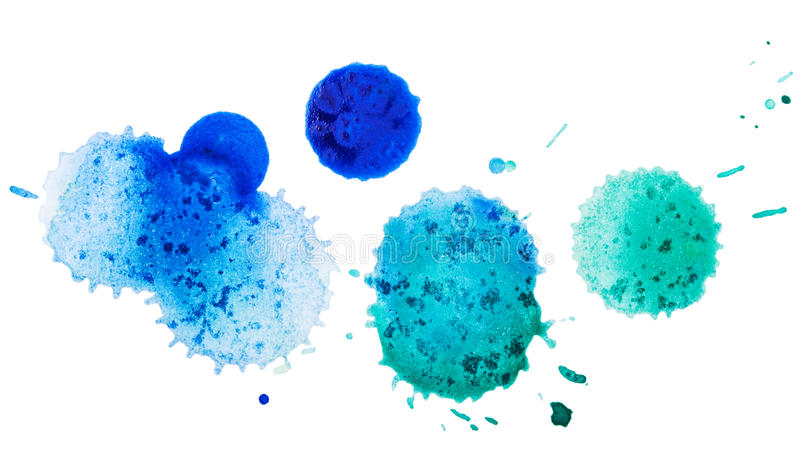 Watercolor blobs. Isolated on white background royalty free stock images