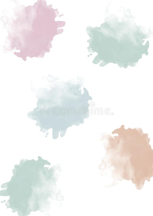Watercolor blobs pastel stock photos
