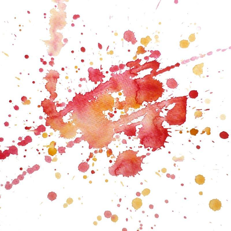 Watercolor blot raster vector illustration